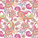 Jillson Roberts 24 Sheet-Count Premium Printed Tissue Paper Available in 8 Different Floral Designs, Perfectly Paisley