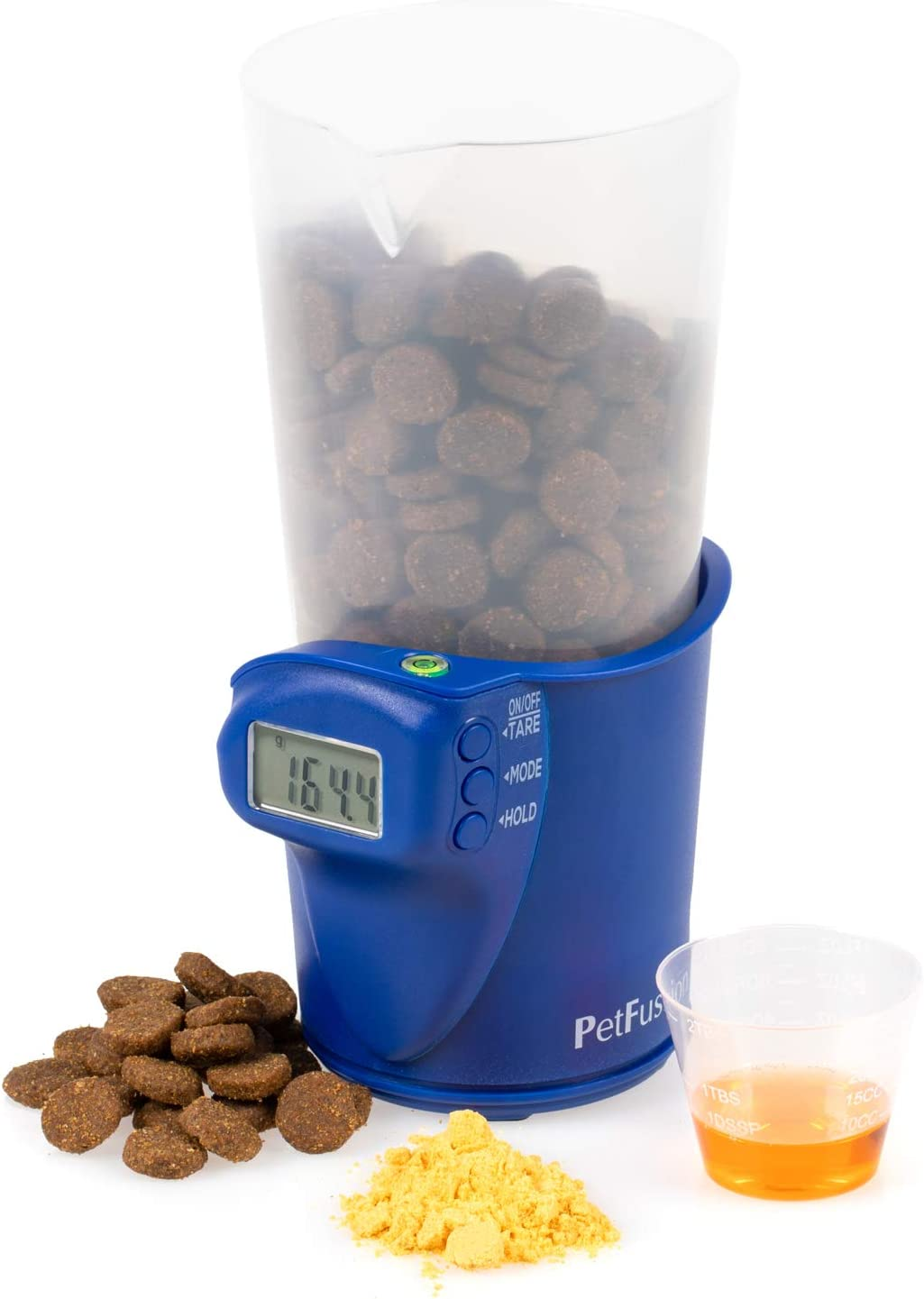 PetFusion Digital Food Scale & Scoop for Dry Dog Food & Cat Food (1, 2 Cup). [Precision Dog Food Measuring Cup for Better Nutrition, Weight Control, Savings]. 1 Year Warranty for Manufacturer Defects