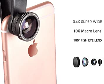 3 In 1 Universal Phone Camera Lens Kit with 0.4X Super Wide Angle ...