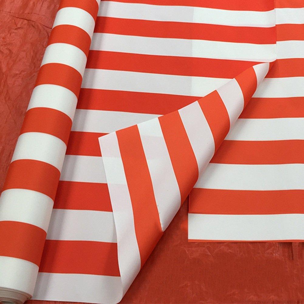 GLJ Outdoor-Markise Tuch Farbe Streifen Tuch Regendicht Tuch Versenkbare Schuppen Tuch Dekorative Tuch Wasserdicht Sonnenschutz Tuch Plane (Farbe : Orange+Weiß)