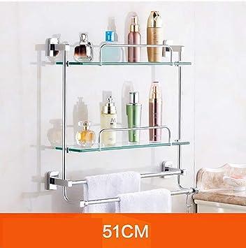 NAERFB Bad Regale Badezimmer Glas Regal, Regal, WC Badezimmer ...