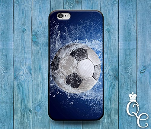 Price comparison product image *BoutiqueHouse* iPhone 4 4s 5 5s 5c SE 6 6s plus iPod Touch 4th 5th 6th Generation Water Splash Wet Soccer Ball Cool Phone Cover Cute Futbol Sport Fun Case(iPhone 5c)