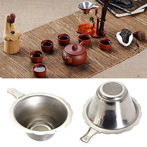 Pink Lizard Stainless Steel Double-layer Tea Strainer Filter Fine Mesh Tea Spoon Filter (Mesh Teaspoon)