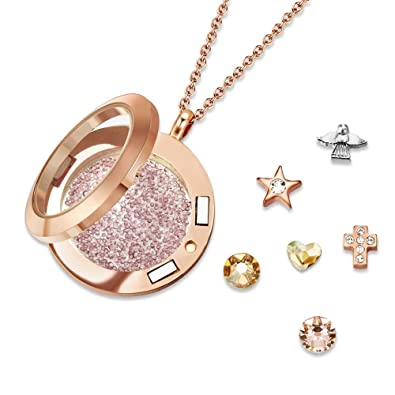 9bd488c55 Mestige Jewellery Holy Saint Dual Floating Charm Necklace with ...
