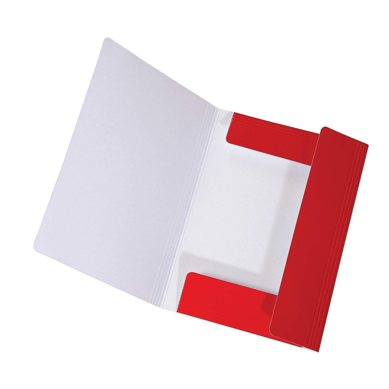 Falken con 3 alette e elastico A3 rot Cartellina LongLife in cartone extra resistente
