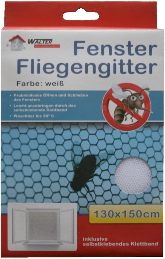 0191 Insektenschutzgitter Fliegennetz Fliegengitter wei/ß 130x150cm