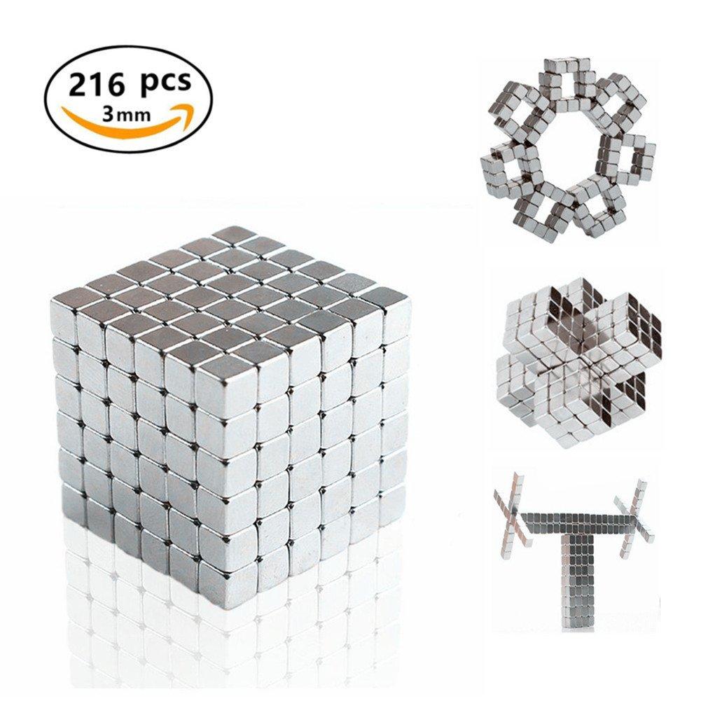 Kuiji Magic Building Ball, Educational Stapeln Creative Stress Relief Schreibtisch Konstruktion 3D Puzzle für Erwachsene/kids (2 Satz Silber)