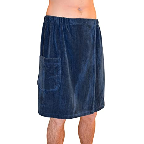 3c3dad476 Image Unavailable. Image not available for. Color: Radiant Saunas SA5327 Men's  Spa & Bath Terry Cloth Towel Wrap, Navy Blue