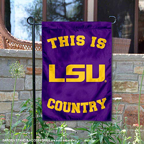 (College Flags and Banners Co. Louisiana State LSU Tigers This is LSU Tiger Country Garden Flag)
