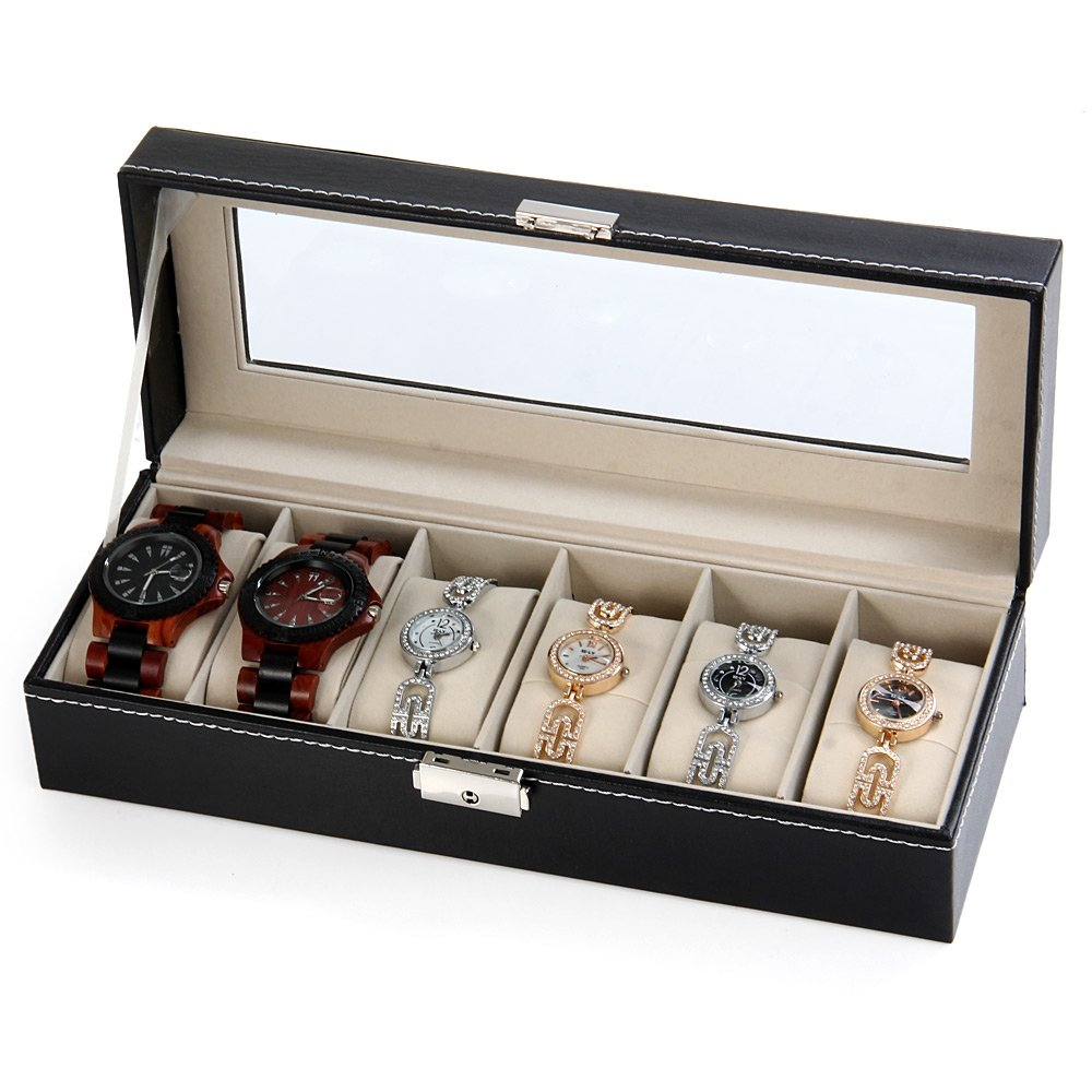 CXP Watch Storage box Window Leather a Variety of Jewelry gift Finishing box Practical