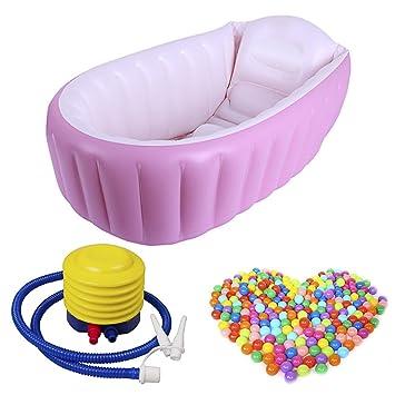 Amazon.com: ahzzy tina de bebé hinchable, bomba de aire ...