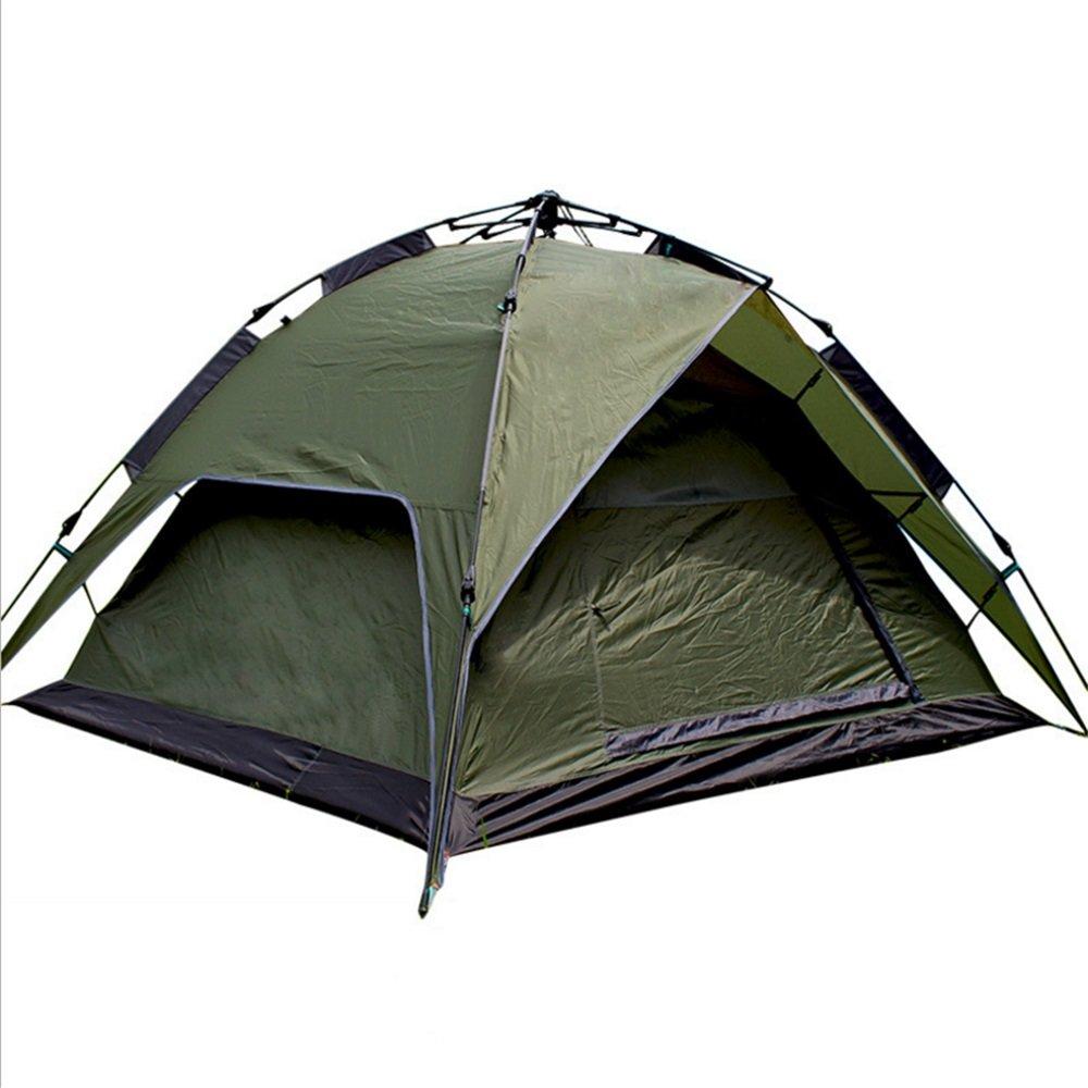 アウトドアキャンプテント3-4人々は、雨風とキャンプテント軍事緑から無料ロープの自動テントを引っ張って B07C1623CQ B07C1623CQ, Shimadaya HOME&LIFE:9da32535 --- ijpba.info