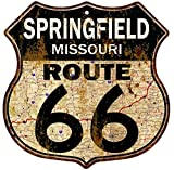 Cheap Great American Memories Springfield, Missouri Route 66 Vintage Look Rustic 12×12 Metal Shield Sign S122146