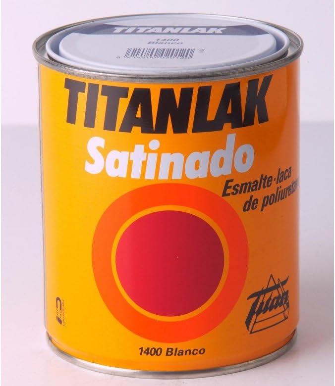 Titanlux - Esmalte-Laca poliuretano satinada Titanlak, Blanco, 750ML (ref. 011140034)