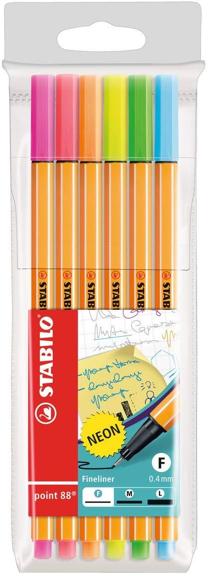 Fineliner Pastellfarben STABILO point 88-8er Etui