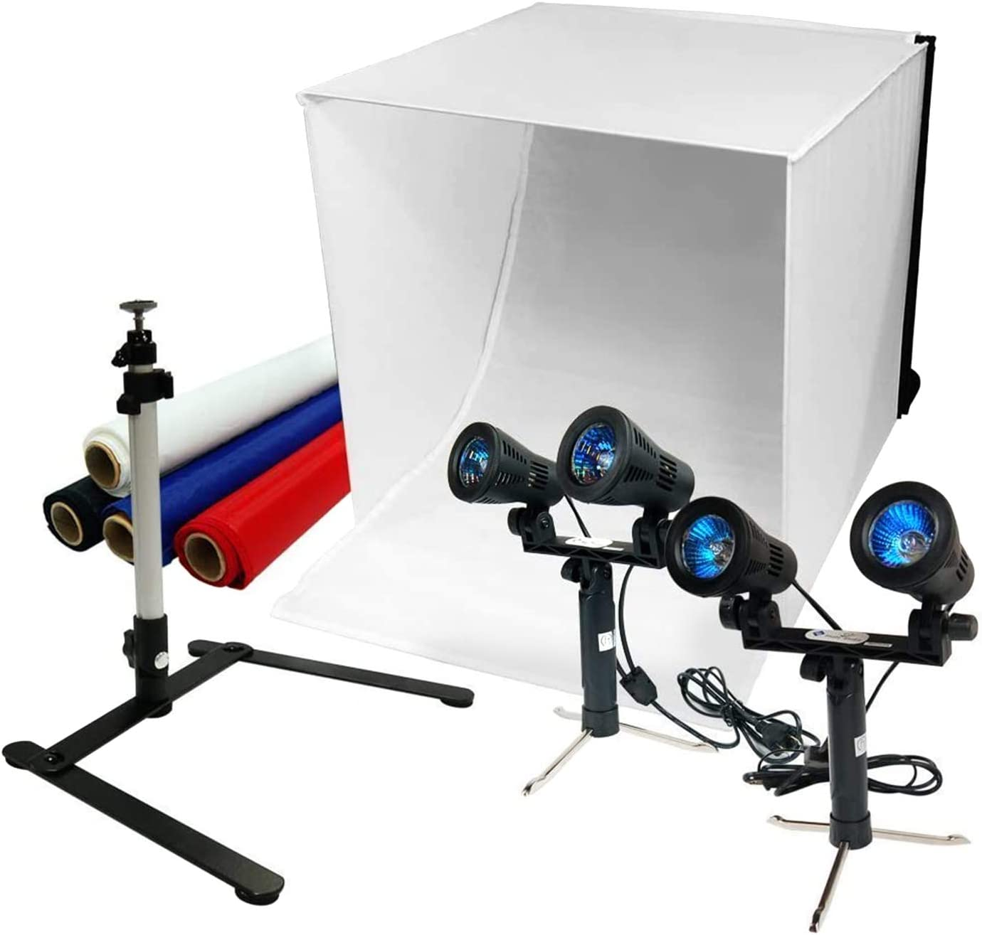 LimoStudio 2 x 50W Light Photography Table Top Photo Studio Lighting Kit for Photo Tent Soft Box AGG1705