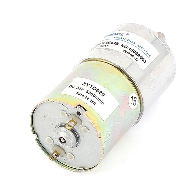 DealMux DC 12V 5 RPM 6 milímetros Shaft Gear Box redutor de velocidade elétrica Micro Motor - - Amazon.com