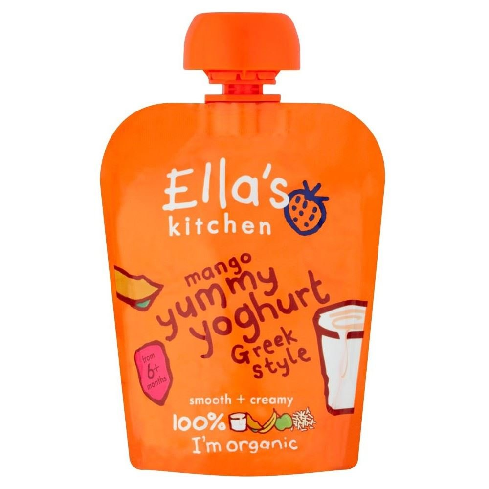 Ella's Kitchen Organic Mango Yummy Yoghurt Greek Style 6mth+ (90g) - Pack of 6 Grocery