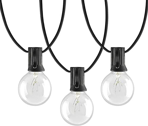 Afirst Outdoor Patio Lights 100 Ft with 100 5 Globe Bulbs String Lights Weatherproof Edison Hanging Lights for Backyard Deck Party Wedding-Black Cord