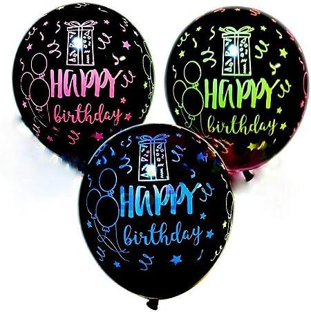 Amazon.com: 12 globos de látex para feliz cumpleaños ...