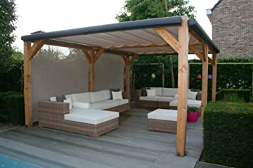 Sol, Gamuza para pergola, schiebedach, luxxout Solem 320 x 400 cm Medida estándar: Amazon.es: Jardín