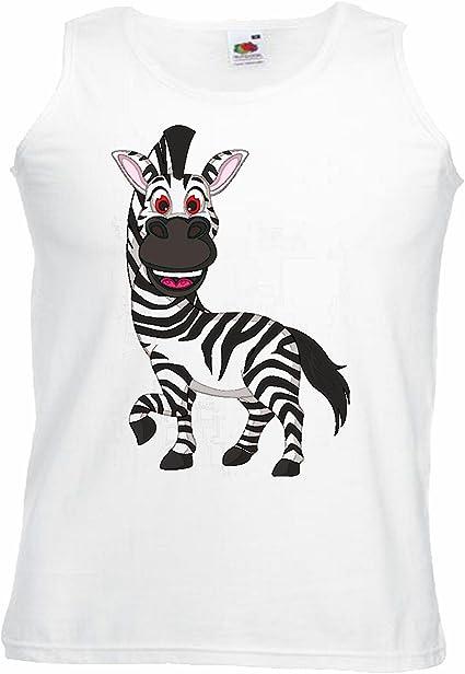 Camisa del músculo Tank Top Risa Caballo de la Cebra Grevyzebra Cebra de montaña ESTEPA Zebra Caballo Salvaje Manga en Blanco: Amazon.es: Ropa y accesorios