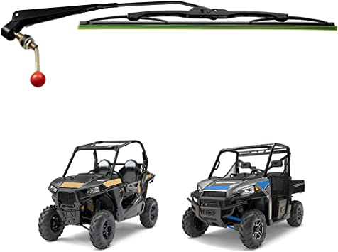 Hand operated windshield wiper for Polaris Ranger