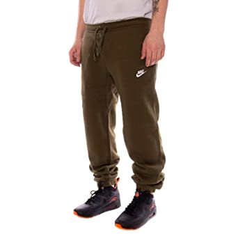 Nike Herren CF Fleece Club Jogginghose, Olive CanvasWhite, 2XL