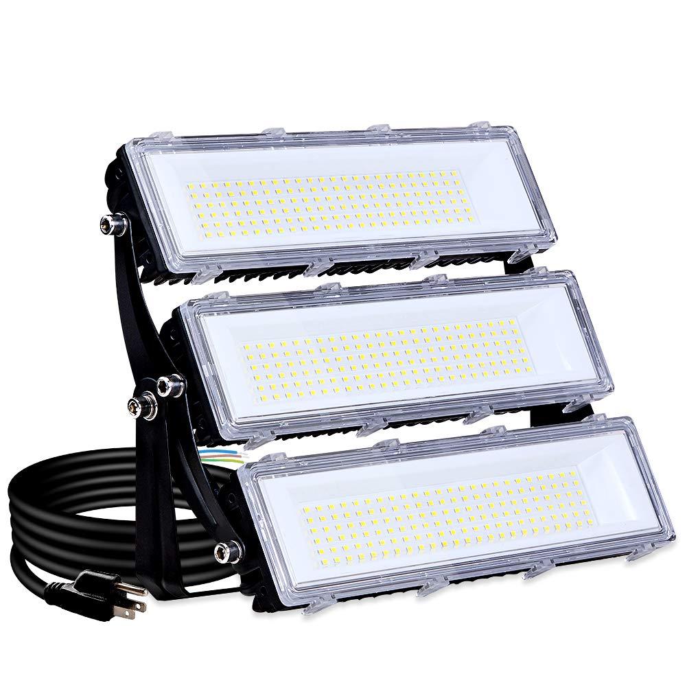 150W LED Flood Light Outdoor, 14500lm 6000K Super Bright Yard Security Lights IP66 Waterproof Outdoor Work Lights,OSRAM LED Chips, Adjustable Heads, Great for Garden,Yard, Parking Lot(Updated)