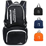 AIRSSON Lightweight Backpack for Hiking & Travel- Foldable Nylon 40L Ultralight Durable Outdoor Traveling Daypack for Men & Women - Small Compact School Laptop Back Pack