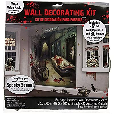 Asylum Scene Setters | Mega Value | Halloween Wall Decorating Kit: Toys & Games