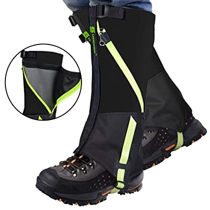1a72ad0f26653 IC ICLOVER Snow Gaiters, 600D Oxford Waterproof Heavy Duty Leg Boot Cover  Anti Bite/Dust/Mud/Rock/Thorns for Hunting Hiking Skiing Camping Climbing  ...