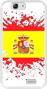 Funda Transparente para [ Huawei Ascend G7 ] diseño [ Ilustración 1, Bandera de España ] Carcasa Silicona Flexible TPU: Amazon.es: Electrónica