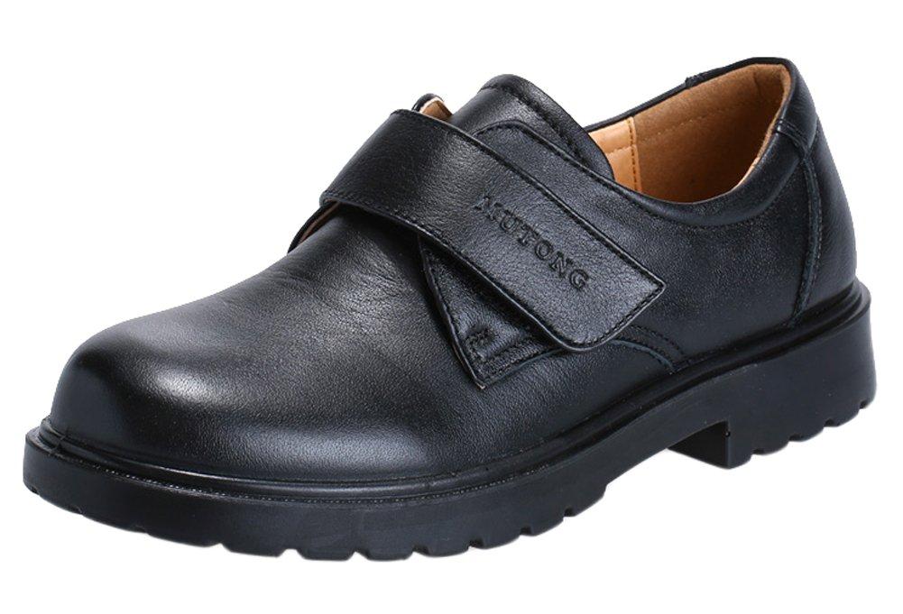 VECJUNIA Boys Black School Uniform Loafers Outdoor Dress Leather Prince Shoes Black 11.5 M US Little Kid