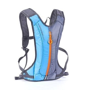 Spokey - Mochila para Bicicleta Jogging Mochila Sport Mochila - Mochila de hidratación Hydro 2L, Azul de Gris, 2 L: Amazon.es: Deportes y aire libre