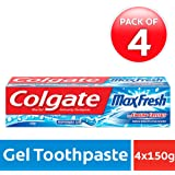 Colgate MaxFresh Anti-cavity Toothpaste, Peppermint Ice, 150gm (Pack of 4)