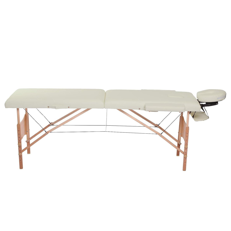 dossier structure en bois Mobile 3/zones de Banc de massage pliable Dibea mt00563 hauteur r/églable beige