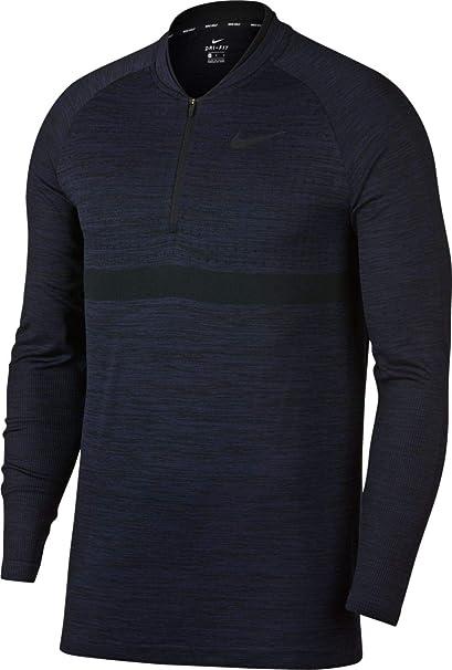 ef0cd623d5b6 Amazon.com  Nike Dri-FIT Men s Half-Zip Seamless Top Golf Pullover ...