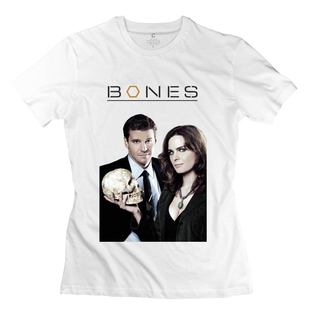 Amazon Com Ywt Bones Tv Series Logo Women T Shirt Slim Fit Style White 6983608108887 Books