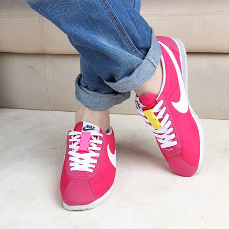 Amazon.co.jp: footful 靴ひも バックル ノベルティ 磁気 ワンタッチ マグネット式 靴紐 結ばない 便利 全8色 , イエロー  服&ファッション小物