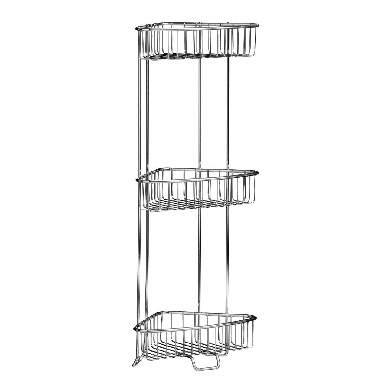 Bathroom Corner Shelf Storage Unit With 3 Tiers | Corner Shower ...