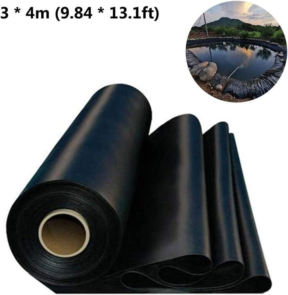 A- 2.5x2.5M Reinforced Puncture Resistance PVC Liner Heavy Duty Pond Skin Flexible Waterproof Garden Low Anti-Leakage Fish Pond Liner for Garden Landscaping Pools Fountain KLOVE Pond Liner