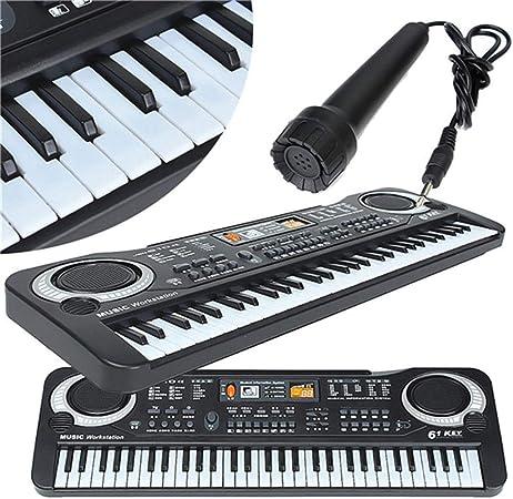 Mini Piano Electrónico Multifuncional Con Micrófono 61 Teclas ...