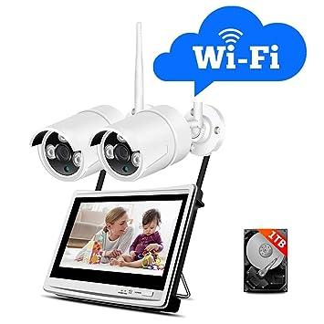 Kit de Cámaras Seguridad WiFi Vigilancia Inalámbrica Sistema ...