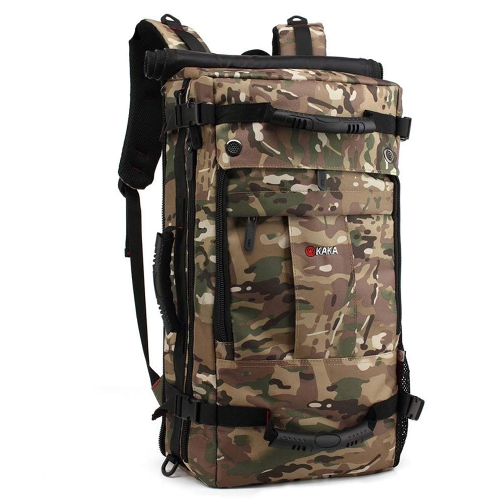 Camouflage Outdoor Large Capacity Casual Backpack ShortDistance Travel Bag Sports and Leisure Backpack (color   Black)