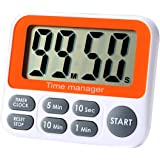 Digital Countdown Kitchen Timer - AIMILAR Count Up Down Magnetic Timer Clock with Alarm Fast Setting for Cooking Baking Stude