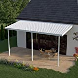 Heritage Patios 16 ft. x 12 ft. White Aluminum Patio Cover (3 Posts / 10 lb. Non-Snow Areas)
