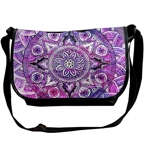 Lovebbag Lots Colorful Flowers Spread Out Crossbody Messenger Bag