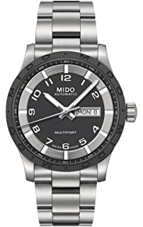 Mido M0184301106200 Multifort Mens Watch- Black Dial Stainless Steel Case Automatic Movement