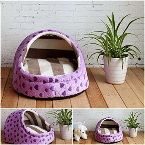1 Pcs Tip-top Popular Pet Half Covered Bed Size M Sleeping Comfort Dog Furniture Soft Fabric Color Type Purple